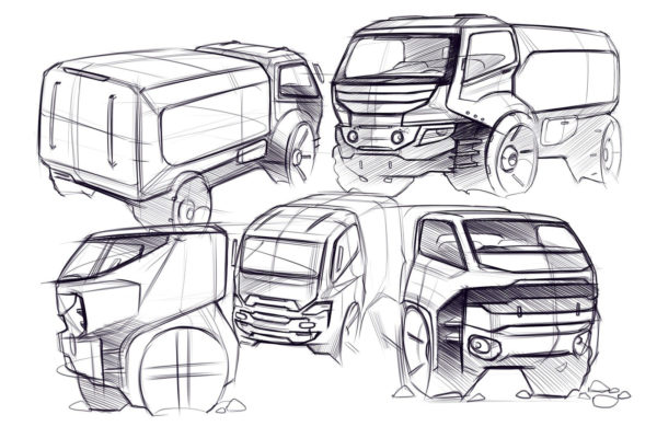 website-modern-truck-sketch
